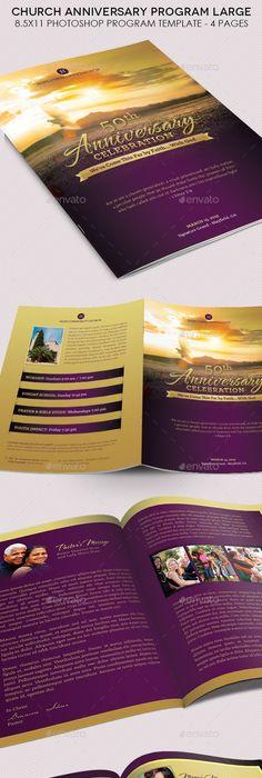 free printable church program template
