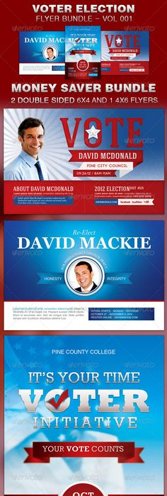 Political Election Flyer Template Flyer Template Print Templates