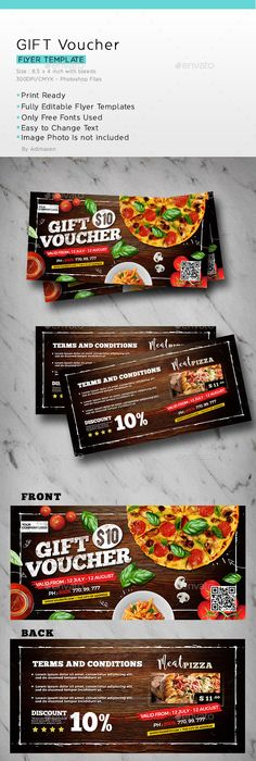 Gift Voucher Loyalty Card | Loyalty cards, Psd templates and Template