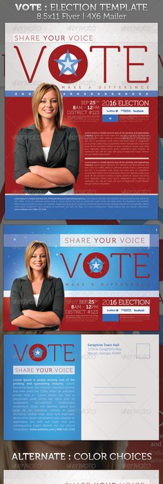Political Campaign Flyer For City Council  Free Political