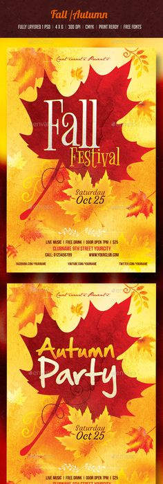 Fall Festival Flyer Flyer Template Template And Event Flyers