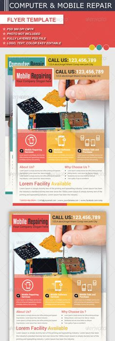 Smartphone Repair FlyerPoster  Smartphone Flyer Template And Template