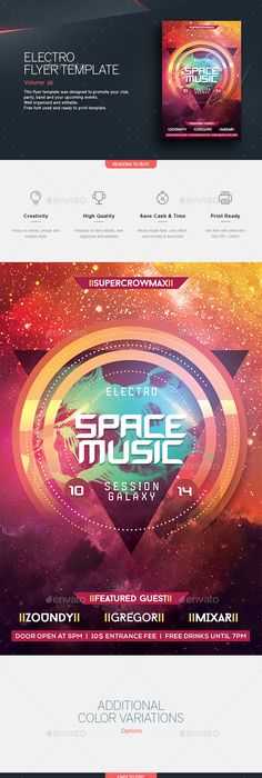 Techno Music FlyerPoster Bundle  Music Flyer Techno Music And