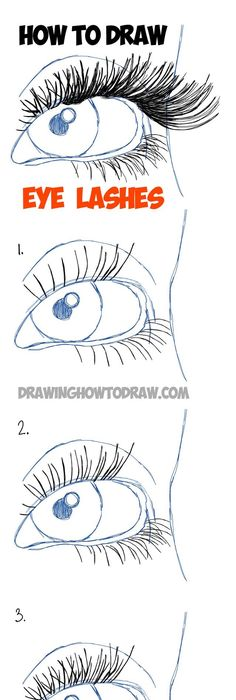 learn how to draw eye lashes with step by step illustrated tutorial diy face drawing