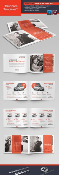 Buy Rent A Car Brochure Template by grafilker on GraphicRiver. Rent A Car Brochure  Template Fully layered INDD Fully layered PSD 300 Dpi, CMYK IDML format ...