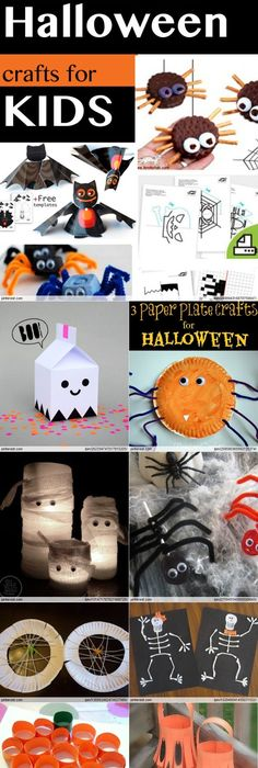Halloween Crafts Ideas for Kids - Many Spooky Art and Craft - halloween decorations for kids to make