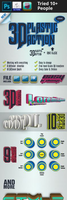 Super 3d glow photoshop 3d and 3d typography reheart Images