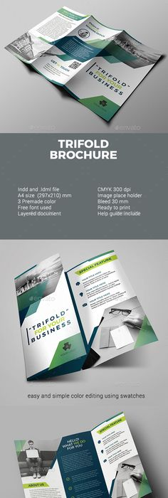 business trifold brochure brochures ai illustrator and brochure template