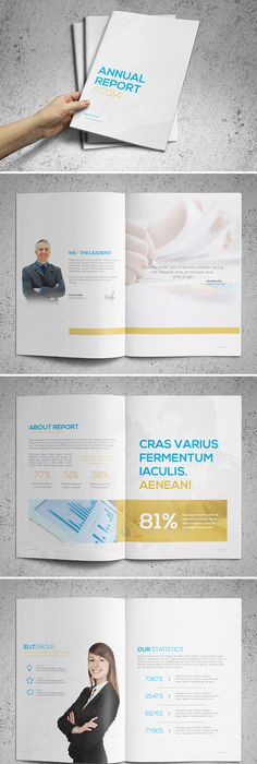Free Annual Report Design Templates  Annual Report Brochure