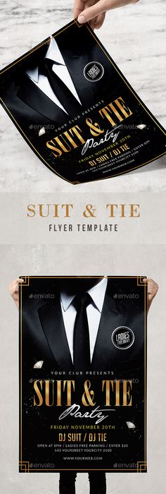 Luxury Night Flyer Template  Ss Flyer Club Simple Black Gold