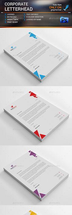 Shape Corporate Letterheads  Shapes Letterhead Template And
