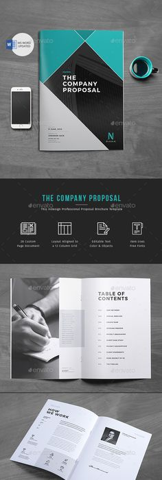 Project Proposal Template Word Proposal — Indesign Indd #branding #modern  Available Here ➝ Https .