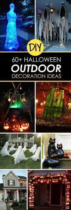 20 Easy (And Cheap!) DIY Outdoor Halloween Decoration Ideas Diy - cheap halloween decor ideas