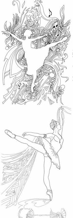 Pin by Valrart on Coloring pages Pinterest Ballet art, Dance - copy coloring pages barbie ballerina