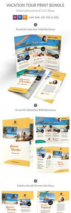 Landscape Travel Agency Brochure Indesign Template  Download