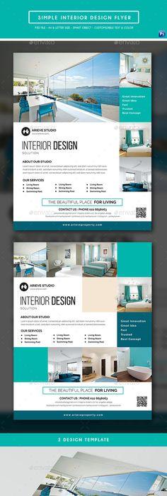 Interior Design Flyer Interiors, Ads and Brochures - interior design flyers