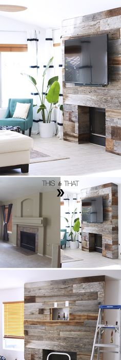 Contemporary 15 Beautiful Wood Accent Wall Ideas to Upgrade Your Space Top Search - Modern herringbone wall Pictures