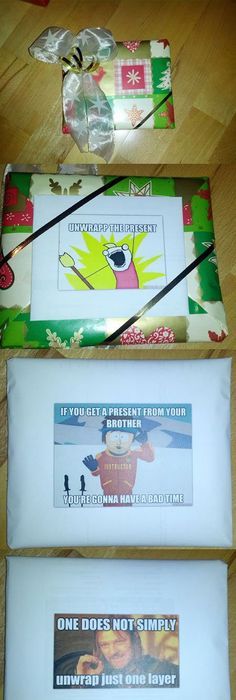 Pin by heather morris cooley on christmas pinterest fun pranks funny pictures about my brother got a special wrapped present for christmas oh and cool pics about my brother got a special wrapped present for christmas negle Gallery