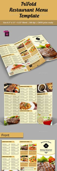 30 Inspired Restaurant Menu Brochure Designs You Must See ...