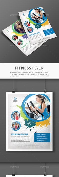 Fitness Flyer Template by Elite_Designer FITNESS Flyer  Features