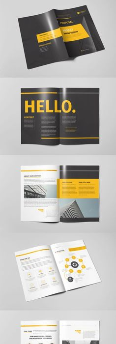 Brand Manual Brochure Template Indesign Indd  Brochure Templates