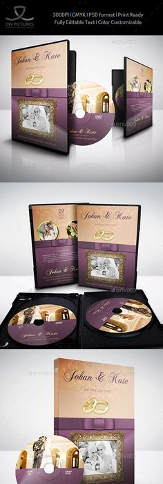 Wedding Dvd Cover And Dvd Label Template Vol  Label Templates