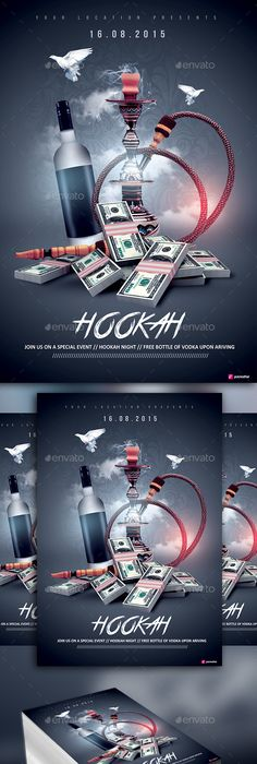 Hookah Shisha Bar Flyer Template  Psd Template  Only Available