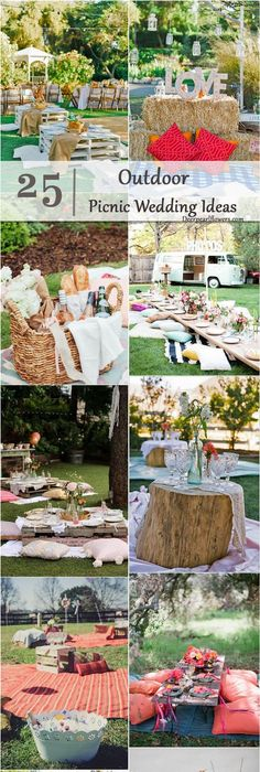 25 Fun Outdoor Picnic Wedding Ideas to Copy | Picnics, Wedding and ...