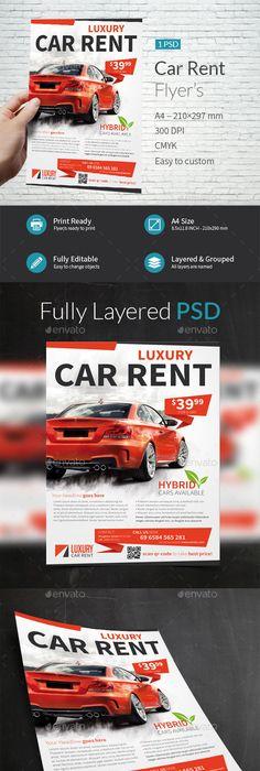 Automotive Car Sale Rental Flyer Ad V  Ads Cars And Brochures
