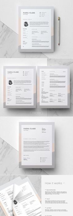 Resume Template  Pages  Milky Way  Template Boutique And