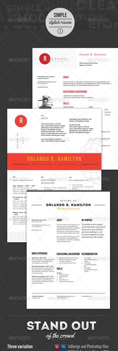 Great Graphic Resume Template By Livingonthechic On Etsy  Work