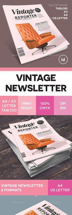 A3 Newsletter Template