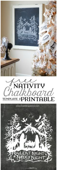 Autumn Chalkboard Free Printable and Template | Chalkboards, Free ...