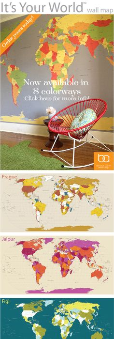 The Wall Sticker Company Removable World map wallpaper Whatu0027s the - copy world map wallpaper for mobile