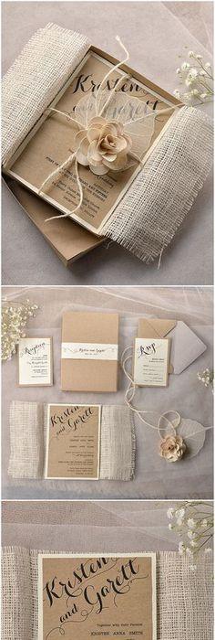 TOP 30 Chic Rustic Wedding Invitations from 4lovepolkadots - fresh invitation box