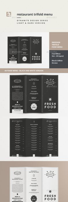 Elegant Menu Template Free Vector  Menu Design Inspirations