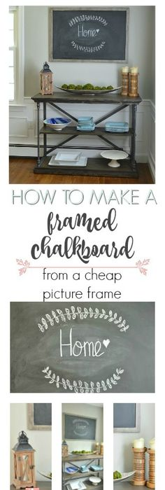 How to Make a DIY Chalkboard from an Empty Frame | Empty frames, Diy ...