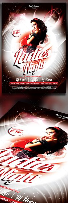Ladies Night Flyer Template By Creative Waffle On Creativemarket