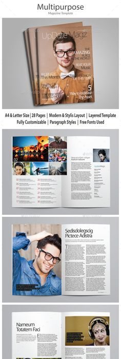 A4 Travelogue Magazine Template | Template, Adobe indesign and Print ...