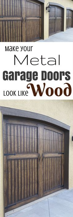 Update Your Garage Door With Gel Stain Create A Faux Wood Look