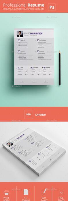 CV/Resume on Behance CV Pinterest Behance, Portfolio design