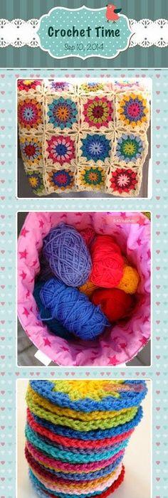 Tasche mit Webbändern und Häkelblumen verschönern | Crochet ...