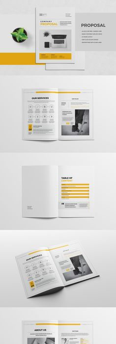 Business Proposal  Pages Template Indesign Indd Ai Illustrator