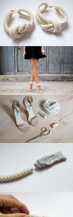 Olcs mgis stlusos csinljunk cipklipszet shoe clips craft how to make knotted rope high heels high heels diy diy ideas diy crafts do it yourself diy projects solutioingenieria Gallery