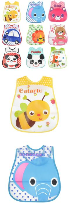 Cute Waterproof Membrane Long Sleeved Bib Baby Feeding Painting Clothes Apron For 1-3 Year Old Baby Painting Babador Bibs Grade Products According To Quality Accessories Boys' Baby Clothing
