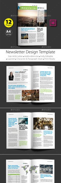 Daily Newspaper Print Templates Newspaper And Template - 1 page newsletter templates