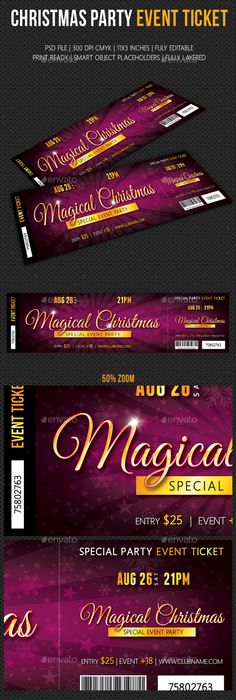 Dinner And Dance Event Ticket Template  Ticket Template Event