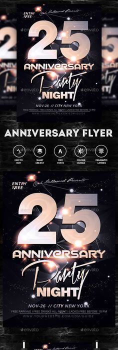 Sketch Anniversary Flyer Flyer Template Sketches And Anniversaries