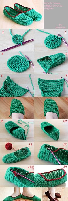 Crocheted Slippers With Roundup Slippers Crochet Crochet And