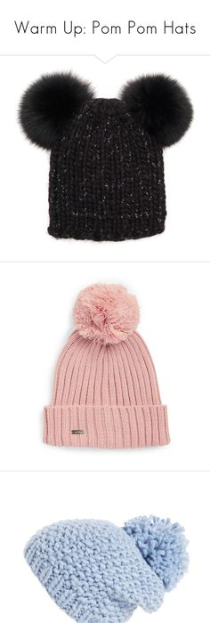 ... The North Face Cable Minna Beanie (115 PEN) ❤ liked on Polyvore  featuring accessories  Boohoo Laura Rib Knit Faux Fur Pom ... 072812ddb195